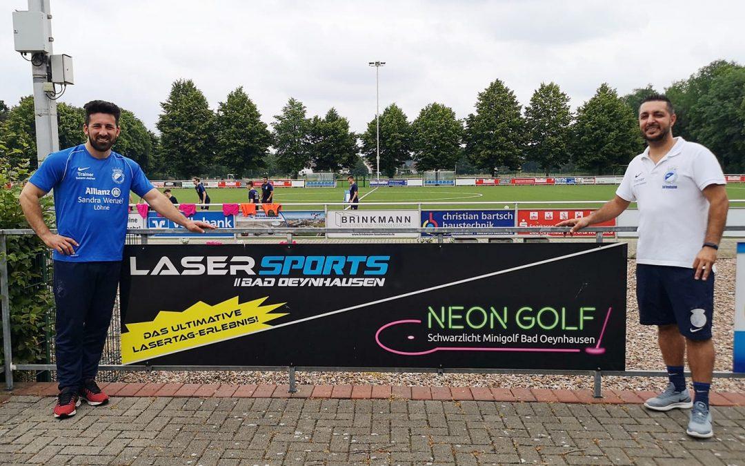 Neuer Sponsor LaserSports | Neon Golf